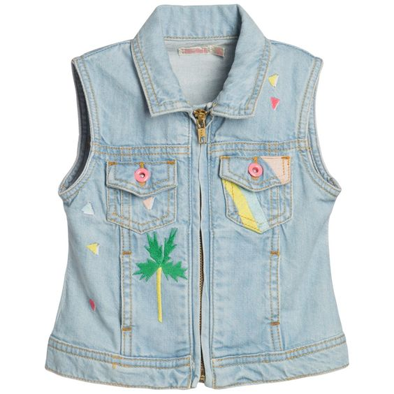 Girls Pale Blue Denim Jacket with Embroidery | Logos, UX/UI ...