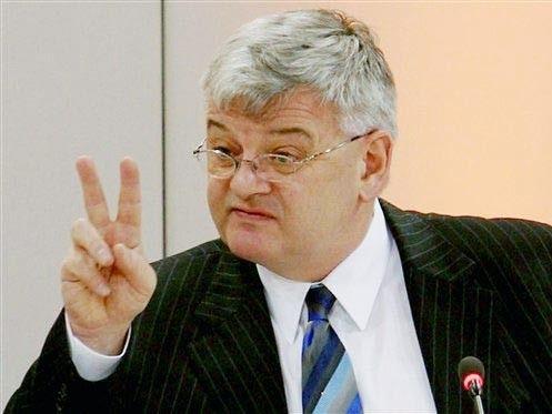 Bundesaußenminister Joschka Fischer spricht im Februar 2005 auf der Sicherheitskonferenz in München. (AP)