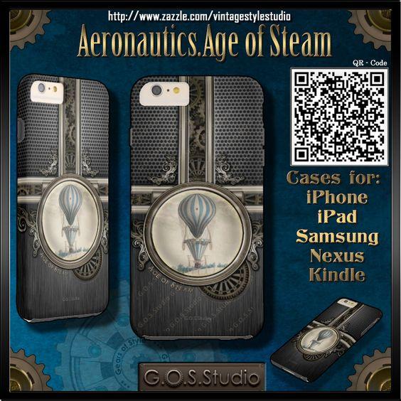 Aeronautics.Age of Steam.  Amazing Phone Cases for: iPhone 6, iPhone 5/5S…