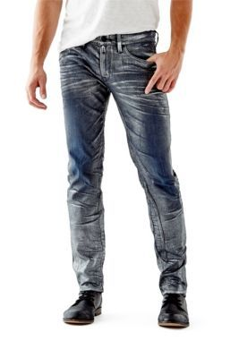 Slim Tapered Jeans in Silver Foil Wash | D, Pewter and Skinny jeans