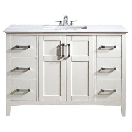 "Found it at Wayfair - Winston 48"" Bathroom Vanity in White"