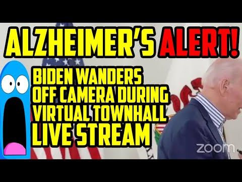 Alzheimer S Alert Joe Biden Wanders Off Stage During Virtual Townhall In Illinois Youtube In 2020 Creepy Catalog Youtube Conservatism