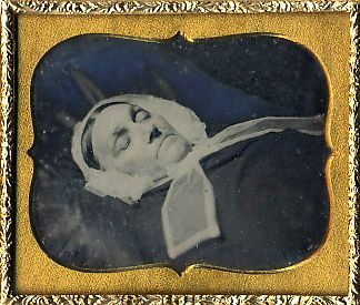 Portrait of an older woman post mortem, date unknown, Daguerreotype.