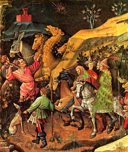 1401-1425  Giovanni da Modena  La visite des rois mages à Bethléem, détail  fresque: