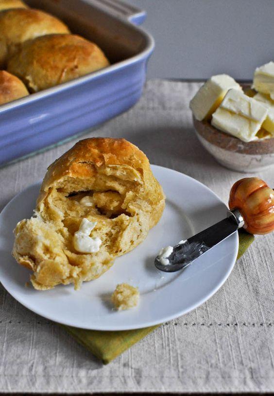 // sweet potato and honey dinner rolls