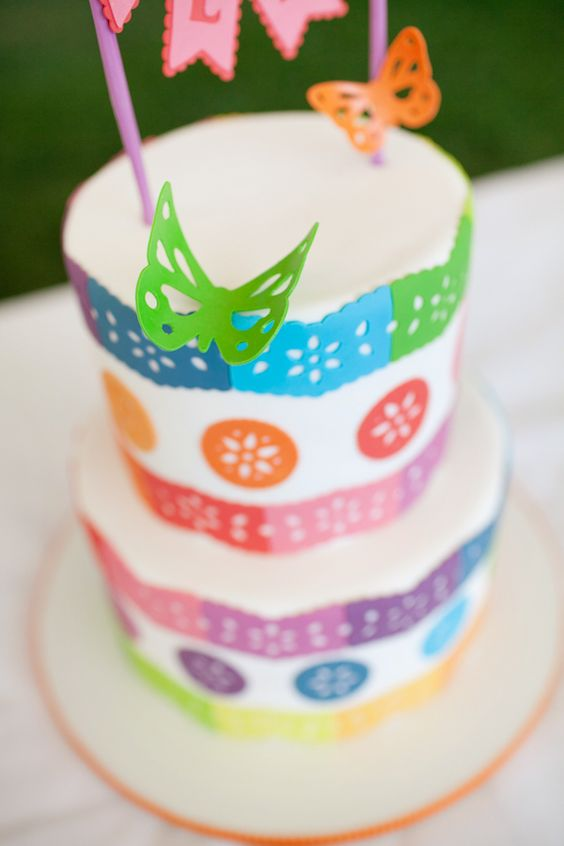 colorful cake, perfect for Cinco de Mayo! Photo by Love Ala