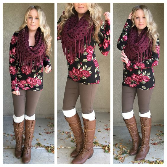 Floral prints in the fall.