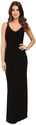 Laundry by Shelli Segal V-Neck Spaghetti Straps w/ Open Back Gown