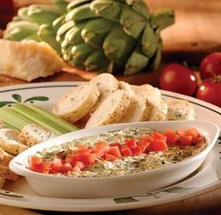 Olive Garden Spinach Artichoke Dip Recipe  ***OLIVE GARDEN CAN KISS MY BUTT NOW THAT THEY NO LONGER HAVE THIS ON THEIR MENU!***