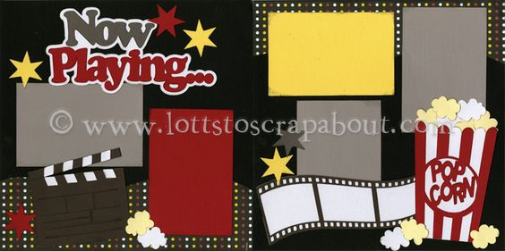 Now Playing Scrapbook Page Kit :: Lotts To Scrap About - Your Online Source for Scrapbook Page Kits!