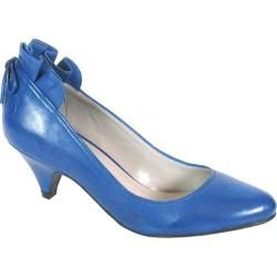 """@Overstock - Sensible low heel pump simply accessorized. This style has a 2 1/2"""" leather covered heel and an almond shaped toe. The heel is beautifully trimmed with ruffles and a tie. Simple lines makes this shoe great for a busy professional.http://www.overstock.com/Clothing-Shoes/Bronx-Womens-Spaysh-Us-73666-Ocean-Leather/7192084/product.html?CID=214117 $59.45"""