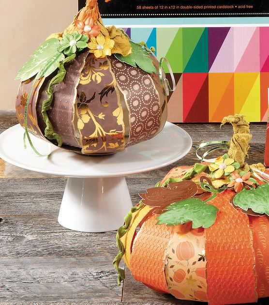 Fun papercrafted pumpkins from @DCWV Inc.