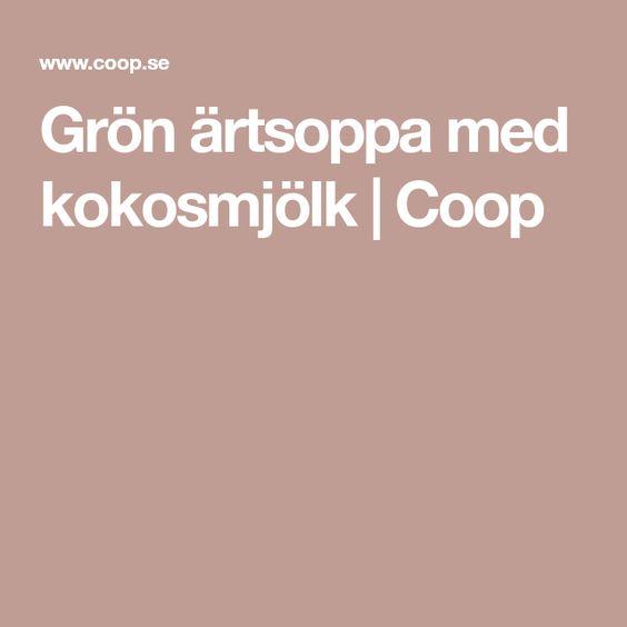 grön ärtsoppa coop