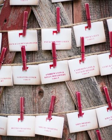 martha stewart rustic wedding decor | Kate Holstein via Martha Stewart Weddings