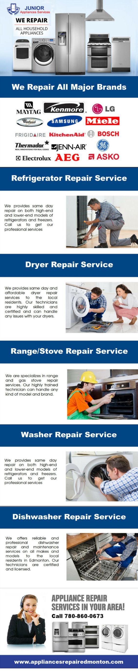 Junior appliances repair edmonton juniorappliance on pinterest