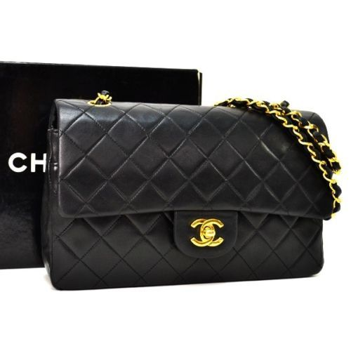 Auth Chanel Quilted Matelasse 25 Lambskin Double Flap Shoulder Bag A01112 Ak2359 Chanel Handbags Chanel Bag Chanel