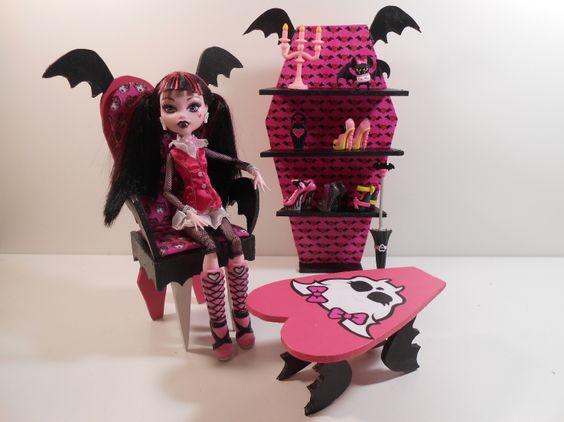 Monster High Homemade Furniture Monster High Furniture Draculaura Batwing Shelves 2