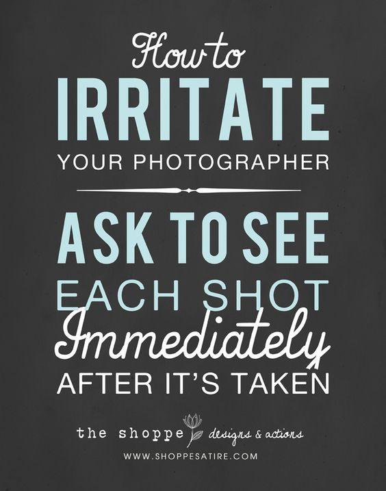 Shoppe Satire ~ Popular Photography Humor