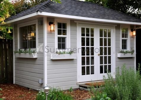 Sonoma Home Studio With French 30 Lite Double Doors In Oakland California Id Number 210549 Cottage Garden Sheds Backyard House Cottage Garden