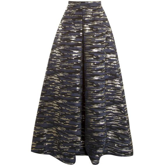 MARTIN GRANT Brocade Ball Skirt (€2.335) ❤ liked on Polyvore featuring skirts, black skirt, brocade skirt, martin grant, black ball skirt and ball skirt
