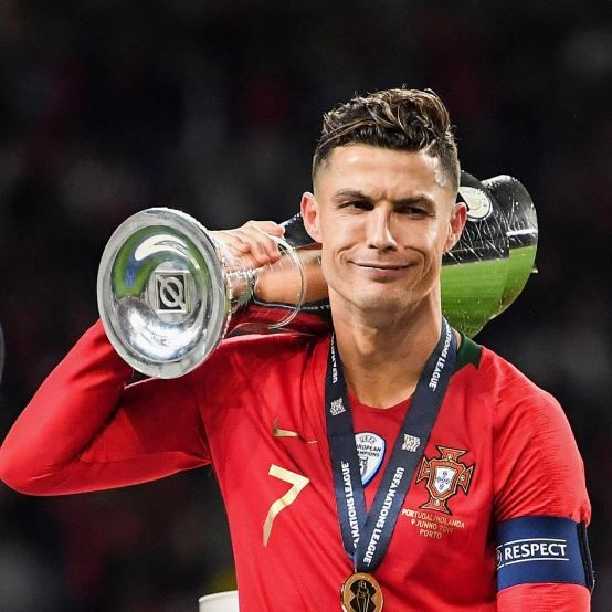 Cristiano Ronaldo Crowned The Uefa Nations League Cristiano Ronaldo Style Cristiano Ronaldo Portugal Crstiano Ronaldo