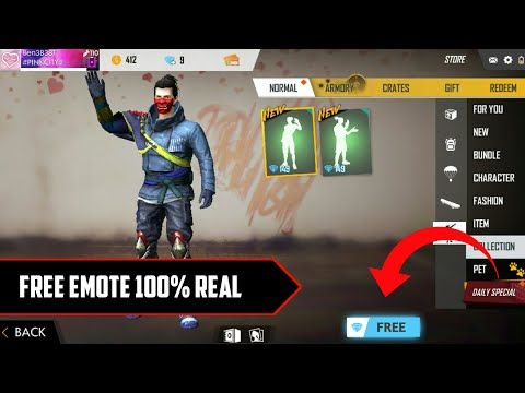 How To Get Free Emotes In Garena Free Fire 100 Real No Server