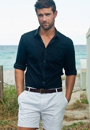 Todd Finlay, Australian model wears great classic look for summer.