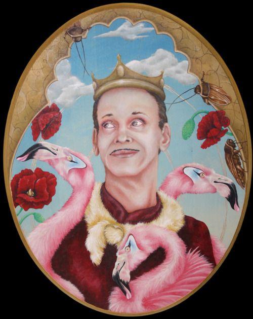 John Waters painting by Kristen Ferrell