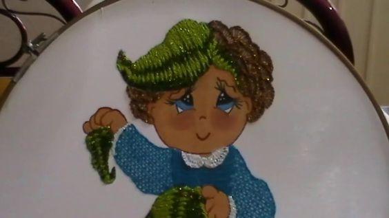Bordado Fantasia Puntada hoja de la niña coliflor