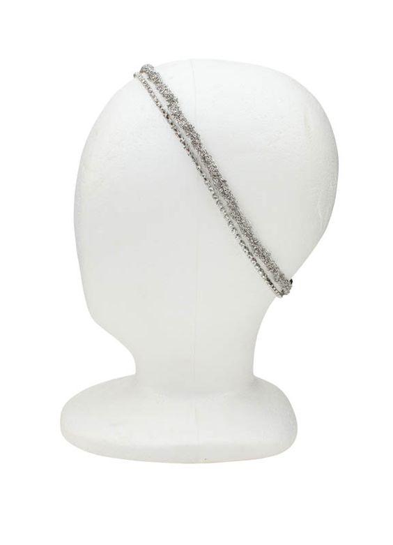 Los Angeles Robertson silver twist and rhinestone row headband ($35)