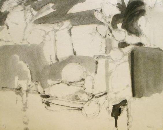 Stephen Greene – Untitled, 1960, India ink on paper | Kemper Art Museum