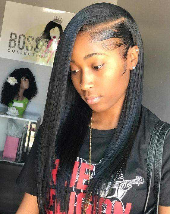 Straight Hairstyles For Black Women 100 Unprocessed Virgin Human Hair Sew In Weave Bundles With Hair Styles Straight Hairstyles Virgin Brazilian Straight Hair