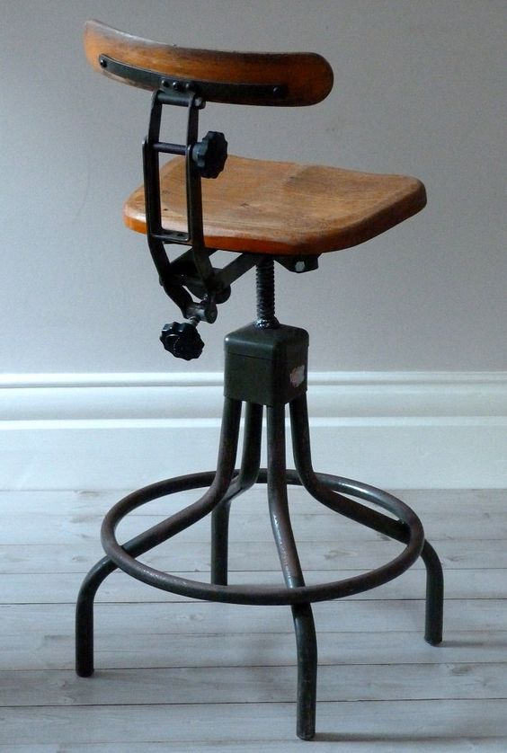 Vintage Evertaut Industrial Stool C 1940s Home Sweet