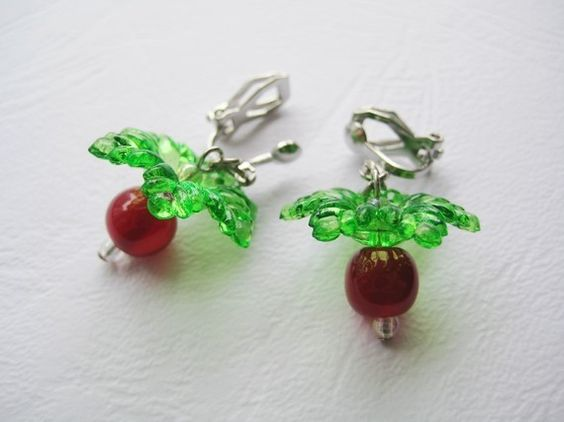 radish earrings clip on radish earrings dead jewelry 9531
