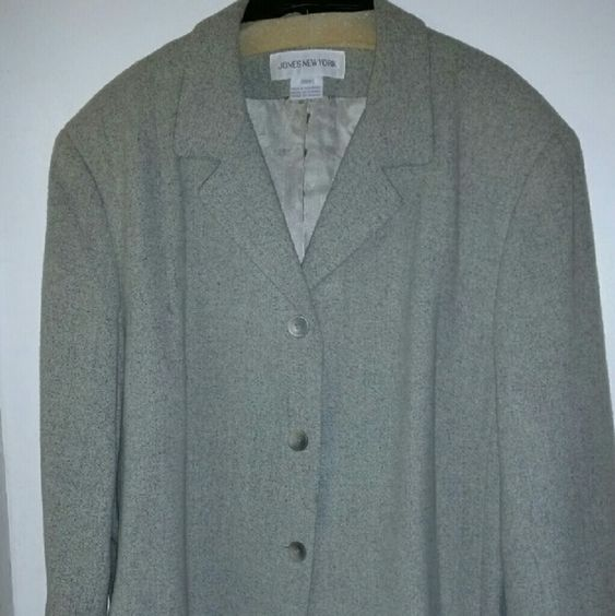 Jones NY jacket Good condition/warn a few times/  like a Mint green color. Jones New York Jackets & Coats Blazers