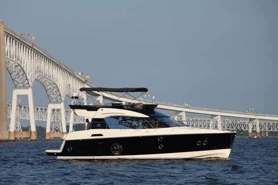 2017 Beneteau Monte Carlo 5 passing under the Chesapeake Bay Bridge!