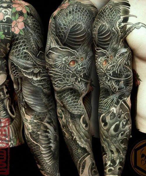 Dragon Sleeve Tattoo Bestsleevetattoos Sleeve Tattoos Tattoo Sleeve Designs Dragon Sleeve Tattoos