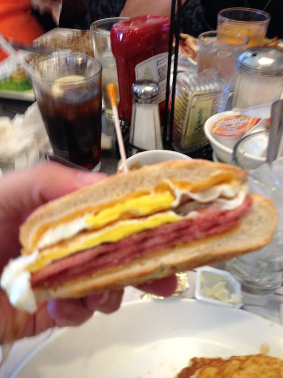Taylor ham egg and cheese from the Morristown diner