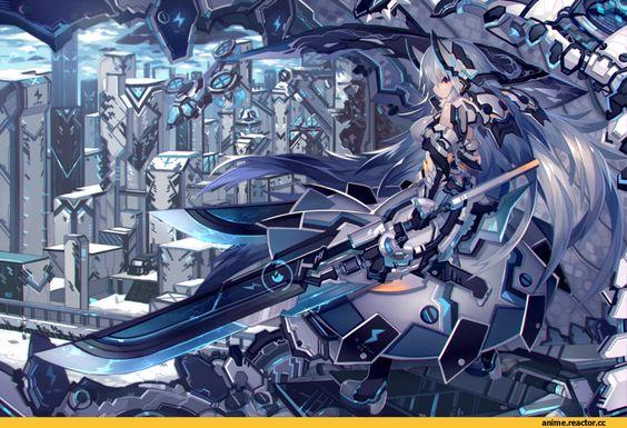 Anime,Аниме,mecha musume,AO,Anime Art,Аниме арт, Аниме-арт,Mamuru,artist