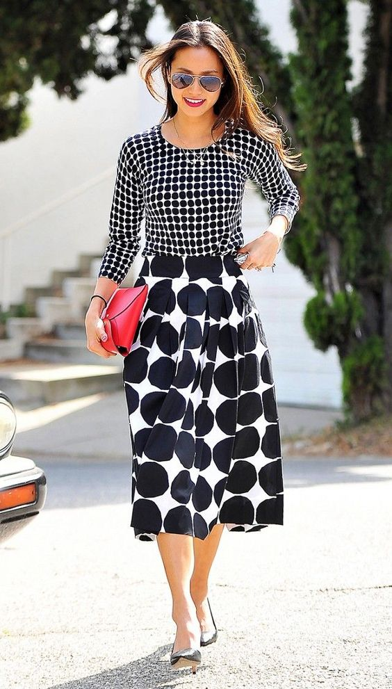jamie chung patterned outfit