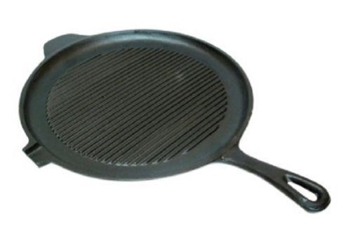11 034 Gold Coast Cast Iron Grill Pan Skillet With Drip Lip