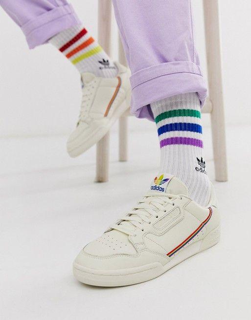 adidas original continental 80 rainbow