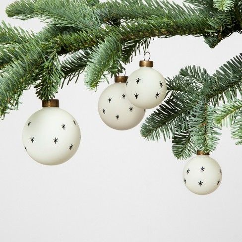 Ornament Set Of 8 Stars Black White Hearth Hand With Magnolia Target Hearth Hand With Magnolia Holiday Living Room Decor Hearth And Hand Target