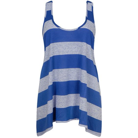 Loose Striped Tank ($14) ❤ liked on Polyvore
