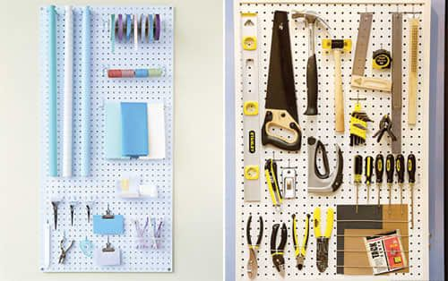 7 Places To Use Pegboard From Martha Stewart Peg Board Organizing Craft Room