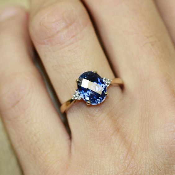 This Is So Beautiful Oval Sapphire Solitaire Engagement Ring In 10k Yellow By Luxcrow Engagement Rings Sapphire Sapphire Wedding Rings Blue Sapphire Rings