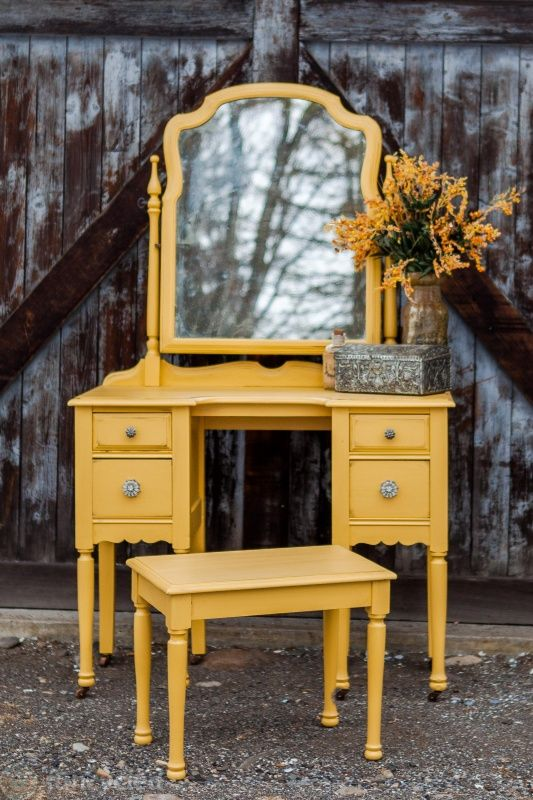 Mustard Yellow Vanity by FunCycled  www.funcycled.com
