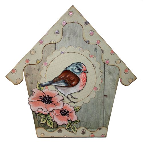 This is the gorgeous new 'Garden Birds' set designed by Sharon Bennett for Hobby Art. Card by Sally Dodger: