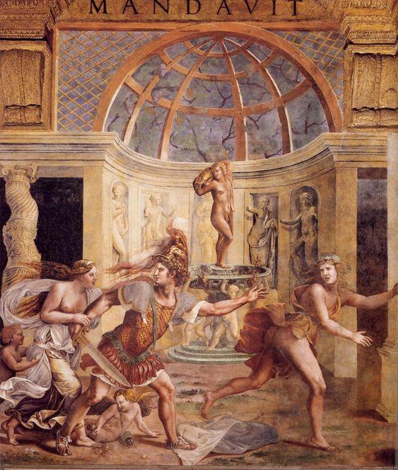 Giulio Romano - Mars Chasing Adonis from Venus's Pavilion
