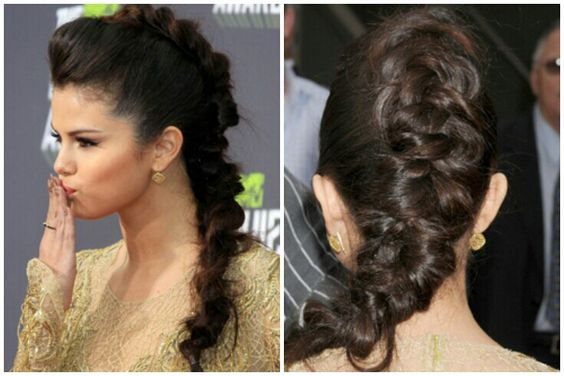 selena gomez fauxhawk braid �� hairstyles to try